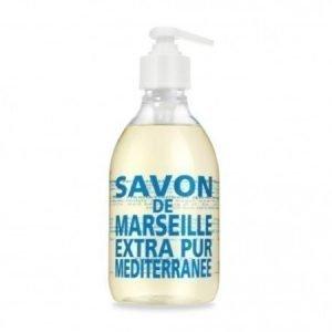 Compagnie De Provence Nestemäinen Marseille-saippua 300 ml Mediterranean Sea
