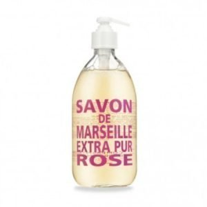 Compagnie De Provence Nestemäinen Marseille-saippua 500 ml Wild Rose