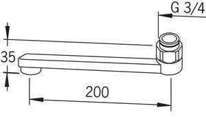 D-juoksuputki Oras 211220 pituus 200 mm