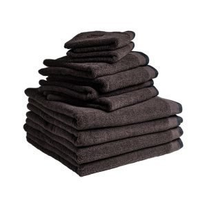 Dirty Linen Dirty Eco Pyyhe Dark Ash 50x70 Cm