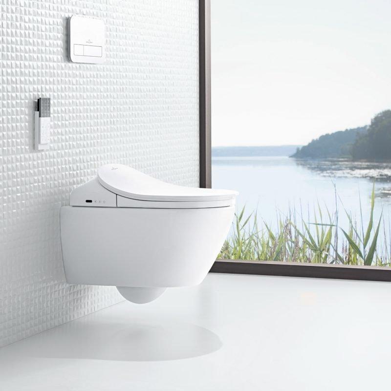 Elektroninen pesevä WC-istuin Villeroy&Boch ViClean-L V02EL401 valkoinen