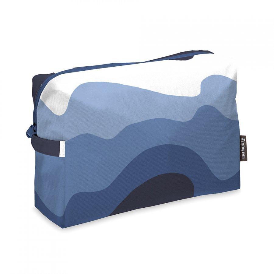 Finlayson Aalto Toilettilaukku 20x28 Cm Sininen/ Valkoinen