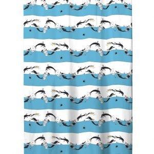 Finlayson Delfiinimuumi Suihkuverho Turkoosi Valkoinen