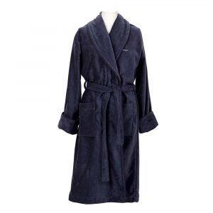 Gant Home Premium Velour Aamutakki L Sateen Blue