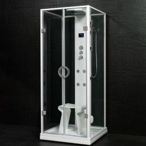 Höyrykylpy Steamer Motion SQ 875x900x2180 mm valkoinen
