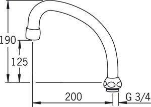 HU-juoksuputki Oras 213520 pituus 200 mm
