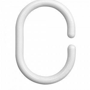 Hasta Suihkutangon Renkaat Valkoinen 12-Pakkaus