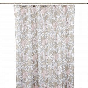 Hemtex Beatrice Shower Curtain Suihkuverho Moniväribeige 180x200 Cm