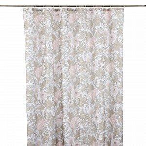 Hemtex Beatrice Shower Curtain Suihkuverho Moniväribeige 180x200 Cm