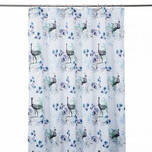 Hemtex Bellamy Shower Curtain Suihkuverho Monivärivihreä 180x200 Cm
