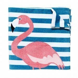 Hemtex Flamingo Rantapyyhe Turkoosi 75x150 Cm