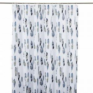 Hemtex Hiram Showercurtain Suihkuverho Harmaansininen 180x200 Cm