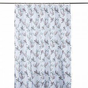 Hemtex Meiko Shower Curtain Suihkuverho Valkoinen 180x200 Cm