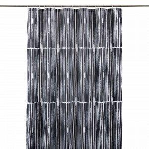 Hemtex Midori Shower Curtain Suihkuverho Harmaa 200x180 Cm