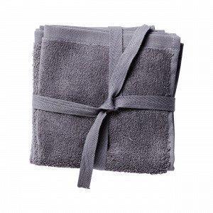 Hemtex Miya Face Cloth 3p Pesulappu Harmaa 30x30 Cm