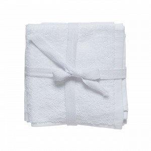 Hemtex Miya Face Cloth 3p Pesulappu Valkoinen 30x30 Cm