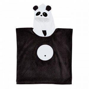 Hemtex Panda Kylpyponcho Musta