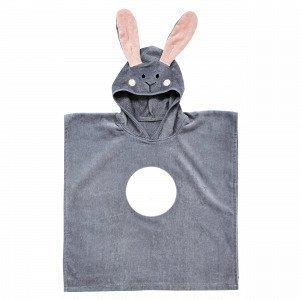 Hemtex Rabbit Kylpyponcho Harmaa