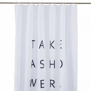 Hemtex Take A Shower Suihkuverho Valkoinen 180x200 Cm