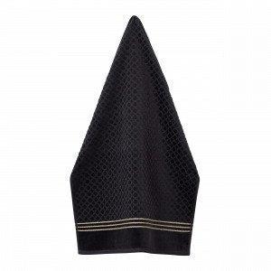 Hemtex Valentina Towel Pyyhe Musta 50x70 Cm