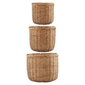 House Doctor Baskets Large 3 Set Korit Luonnonvärinen