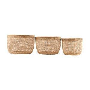 House Doctor Shape Baskets Korit 3 Set Large Luonnonvärinen