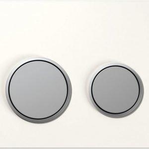 Huuhtelupainike Sigma20 valkoinen/ mattakromi