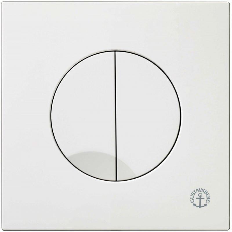 Huuhtelupainike/etulevy Gustavsberg Triomont XS 3/6 l valkoinen