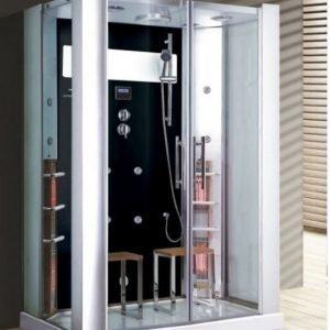 Infrapuna-höyrysauna ja hierova suihkukaappi Maestro Regal 22B 145x90x215 cm musta
