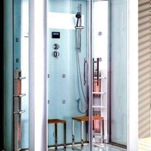 Infrapuna-höyrysauna ja hierova suihkukaappi Maestro Regal 22W 145x90x215 cm valkoinen