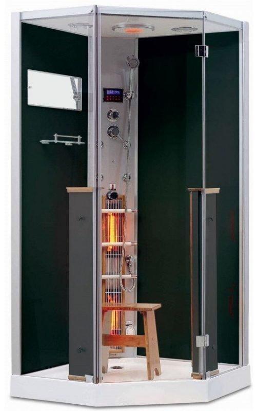 Infrapuna-höyrysauna ja hierova suihkukaappi Maestro Regal 62B 100x100x215 cm musta