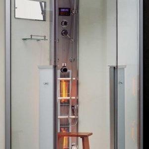 Infrapuna-höyrysauna ja hierova suihkukaappi Maestro Regal 62W 100x100x215 cm valkoinen