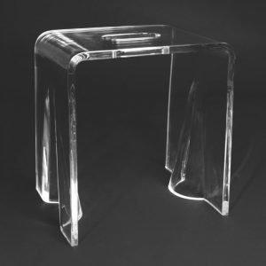 Istuin Noro 340x250x360 mm läpinäkyvä akryyli
