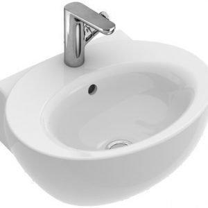 Käsienpesuallas Ceramicplus-pinnoitteella Villeroy & Boch Aveo new generation 4131 505x410 mm Valkoinen Alpin