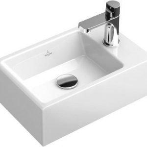 Käsienpesuallas Ceramicplus-pinnoitteella Villeroy & Boch Memento 5333 400x260 mm Valkoinen Alpin