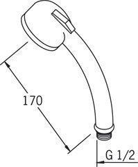 Käsisuihku Oras Sensiva 242010-11 hierova valkoinen