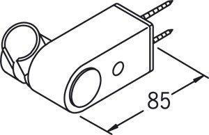 Käsisuihkun pidike Oras Apollo 253100-11 valkoinen