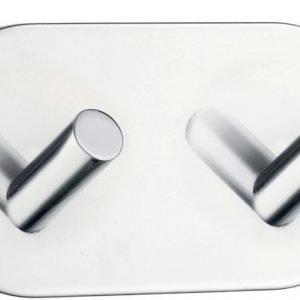 Kaksoiskoukku Smedbo B 1091 tarrakiinnitteinen