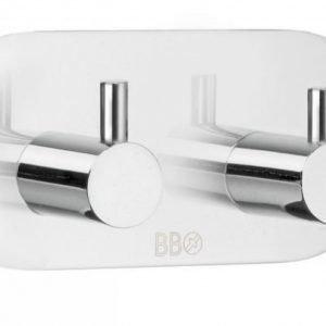 Kaksoiskoukku Smedbo B design 1102 tarrakiinnitteinen