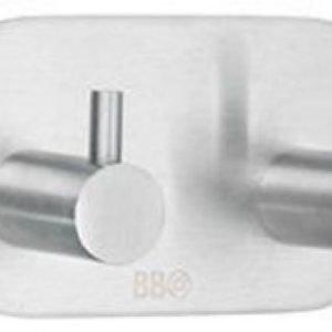 Kaksoiskoukku Smedbo B design 1102 tarrakiinnitteinen harjattu