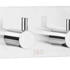 Kaksoiskoukku Smedbo B design 1106 tarrakiinnitteinen