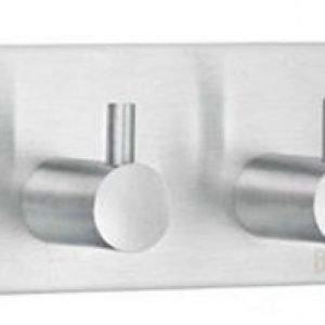 Kaksoiskoukku Smedbo B design 1106 tarrakiinnitteinen harjattu