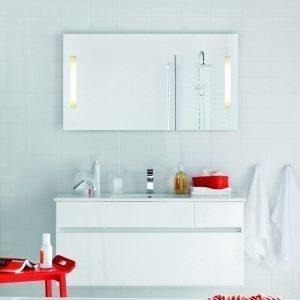 Kalusteryhmä Hafa East 1200DD allaskaappi + peili valkoinen