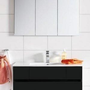 Kalusteryhmä Hafa East 1200DD allaskaappi + peilikaappi musta