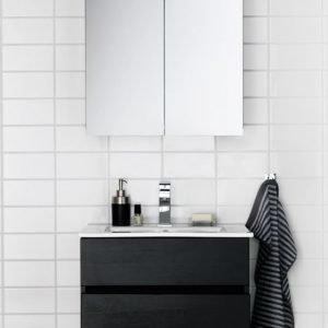 Kalusteryhmä Hafa East 600 allaskaappi + peilikaappi musta