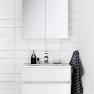 Kalusteryhmä Hafa East 600 allaskaappi + peilikaappi valkoinen