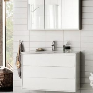 Kalusteryhmä Hafa Original 600 allaskaappi + peilikaappi valkoinen