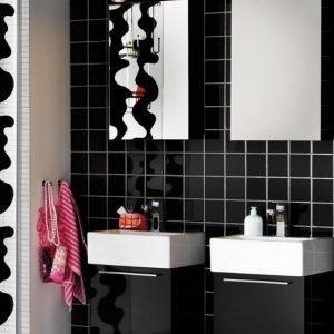 Kalusteryhmä Hafa Solo 420 allaskaappi + peilikaappi musta