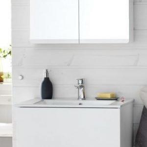 Kalusteryhmä Hafa Sun 600 allaskaappi + allas + peilikaappi valkoinen tammivaneri