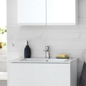 Kalusteryhmä Hafa Sun 900 allaskaappi + allas + peilikaappi valkoinen matta